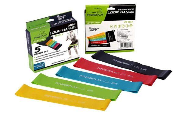 Купить резинки для фитнеса всего за 289 грн! PowerPlay набор 5 резиновых лент. Качественные латексные резиновые петли для женщин. На Greens & Vitamins