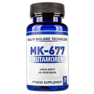 Купить стимулятор гормона роста (ГР) Ибутаморен Health Biologic Technology (Belgium) SARMs Ibutamoren (MK-677) 20 mg 30 capsules в Украине и отправка за границу.