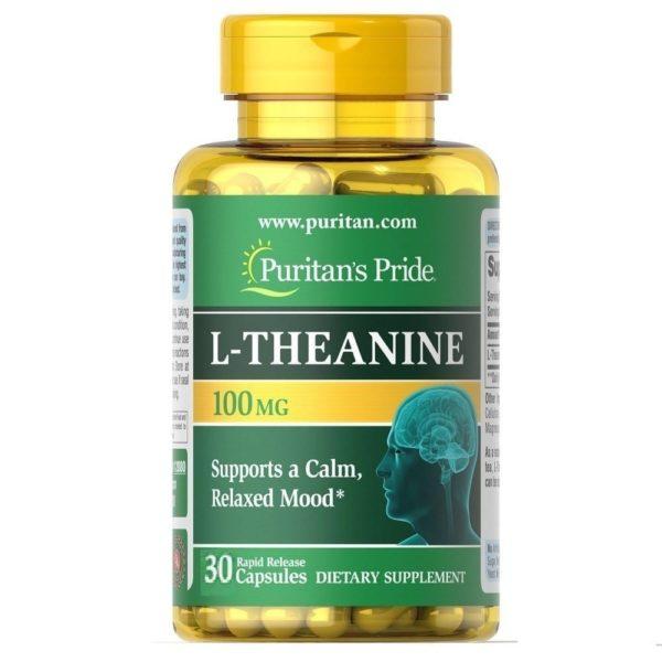 Купить Теанин для релаксации Puritan's Pride USA L-Theanine 100 mg 30 capsules в Украине и отправка за границу. На Greens & Vitamins.
