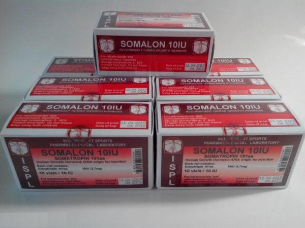 Купить гормон роста Сомалон ISPL (Romania) Somalon 10 (10 фл х 10 ME) в Украине и отправка за границу. На Greens & Vitamins.
