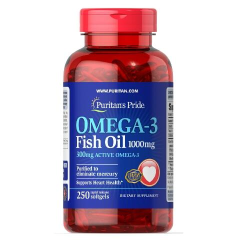 Купить омега3 Puritan's Pride USA omega-3 1000 mg 250 softgels в Украине и за границу. В интернет-магазине Greens & Vitamins