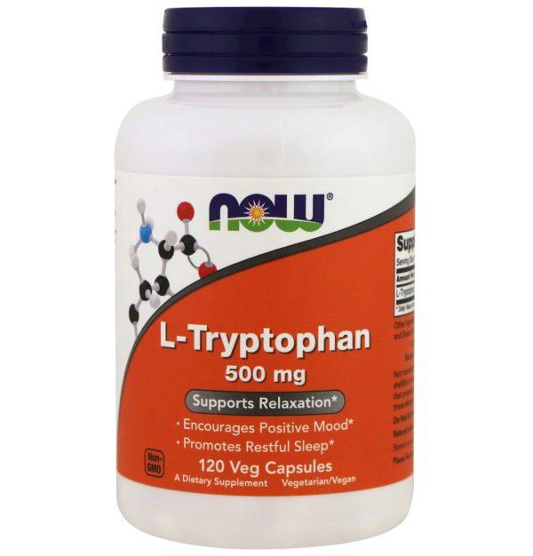 Купить триптофан гормон счастья NOW Foods USA L-Tryptophan 500mg 60 caps в Украине и отправка за границу. На Greens & Vitamins.