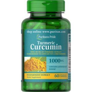 Купить куркумин Puritan's Pride Turmeric Curcumin 1000 mg 60 caps в Украине и отправка за границу. В интернет магазине Greens & Vitamins