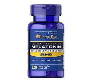 Купить мелатонин для хорошего сна Puritan's Pride Melatonin 5 mg 120 tabs в Украине и отправка за границу. В интернет магазине Greens & Vitamins.