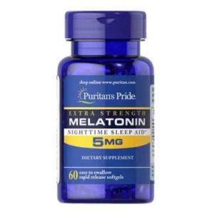 Купить мелатонин для сна Puritan's Pride Melatonin 5 mg 60 softgels в Украине и отправка за границу. На Greens & Vitamins.