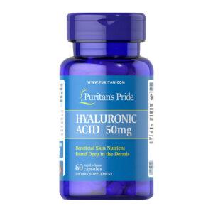 Гиалуроновая кислота Puritan's Pride Hyaluronic Acid 50 mg 60 caps купить в Украине и отправка за границу. На Greens & Vitamins.