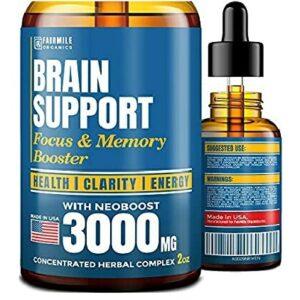 Купить Бустер для бодрости и ума Fairmile Brain Support Focus & Memory Booster 60 ml в Украине и отправка за границу на Greens & Vitamins