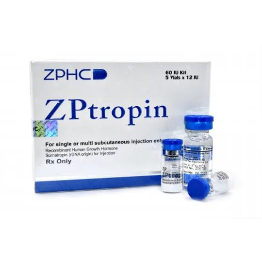 Оригинальный Гормон Роста ZHENGZHOU ZPTROPIN 5 фл Х 12 IU, купить в Украине и отправка за границу в интернет магазине Greens & Vitamins