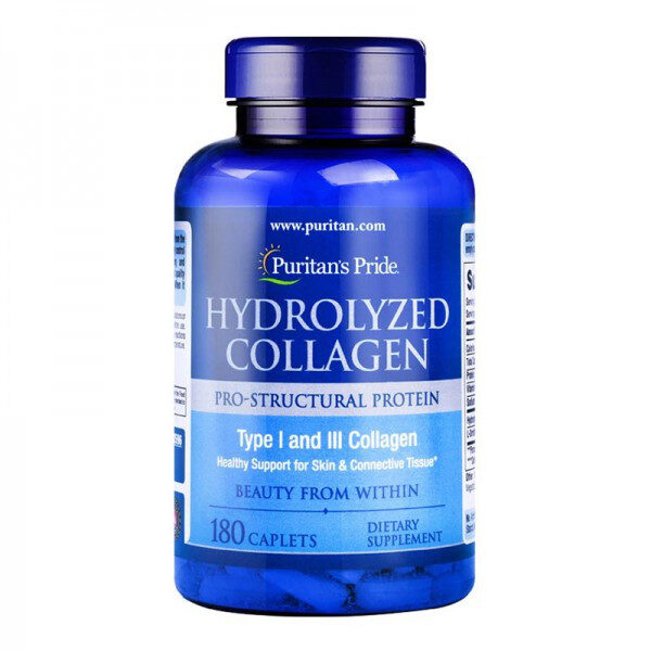 Collagen Hydrolyzed 180 tabs | Puritan's Pride USA
