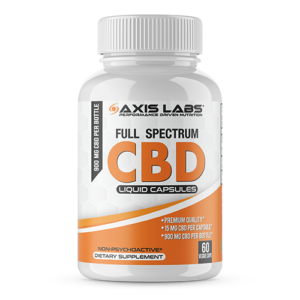 CBD Axis Labs 60 liquid caps