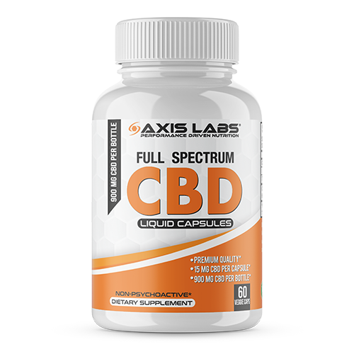 CBD Axis Labs 60 liquid caps