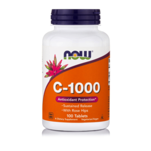 C-1000 Sustained Release with Rose hips 100 tabs Now Foods